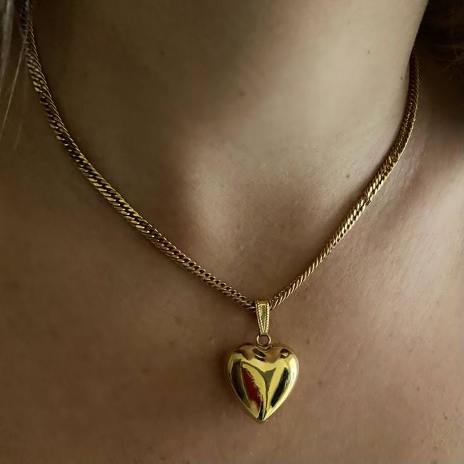 3d Heart Necklace