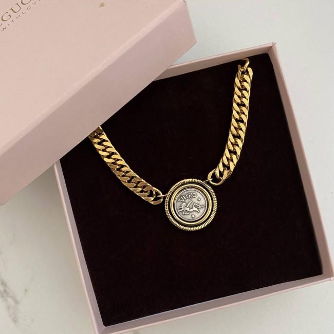 Big Zodiac Groumette Necklace