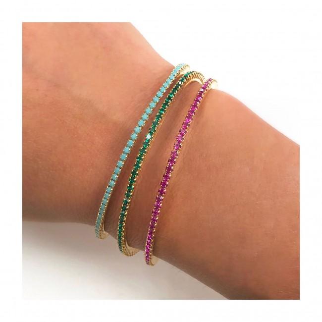 Tris bracciali rigidi regolabili semplici