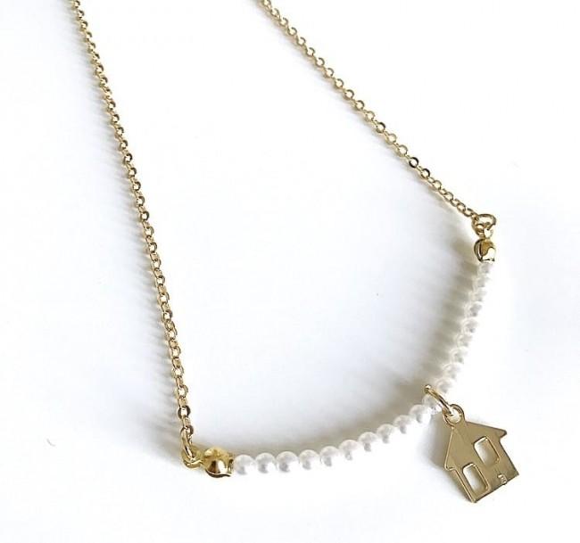 nuovo concetto a728b ecae7 Collana catena perle piccole