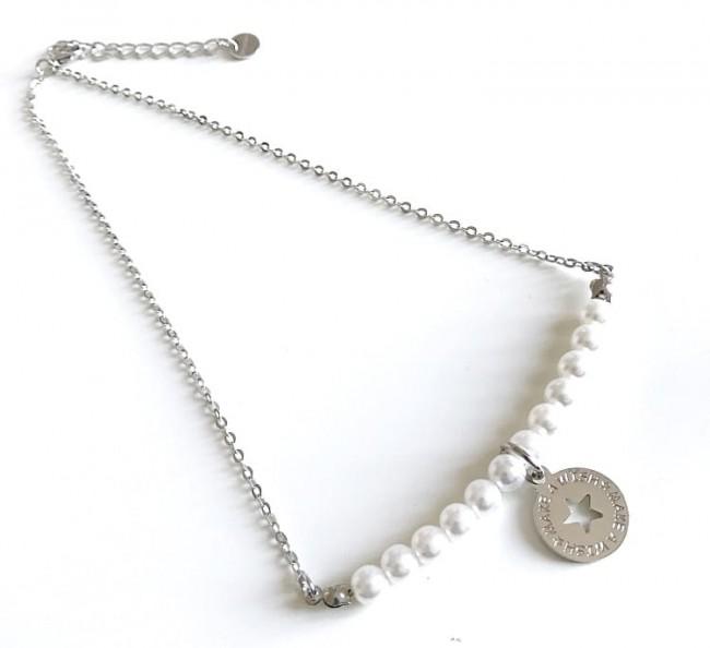 Collana catena perle grandi