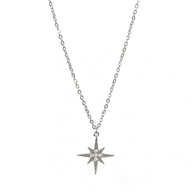 Collana 42 cm 1 charm stella polare grande