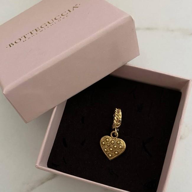 SINGOLO Mini Groumette Heart Hoop 1 cm