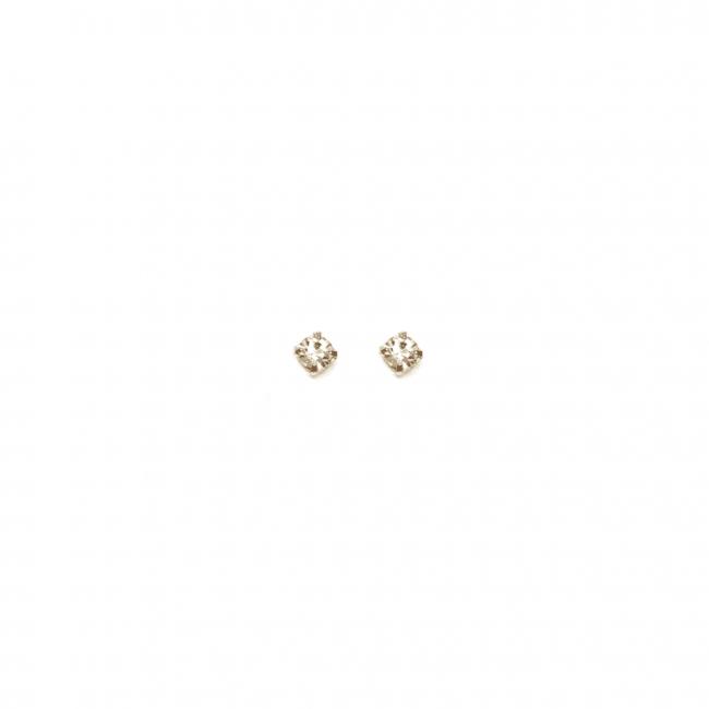 Coppia orecchini al lobo punti luce 2mm