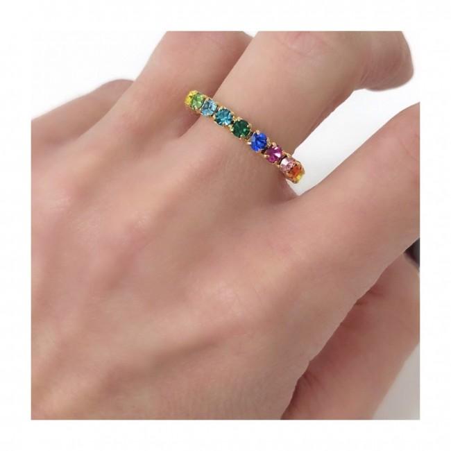 Anello veretta Doppia regolabile New Multicolor semplice  (ESCLUSIVA ONLINE)