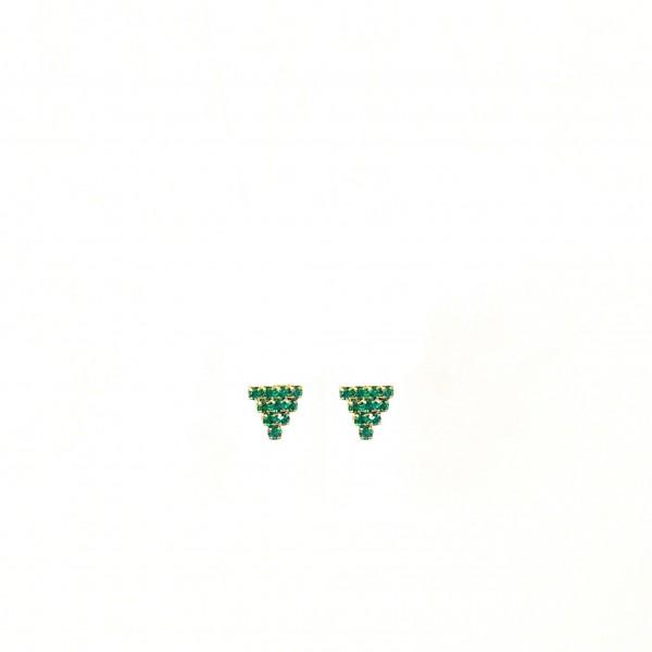 Coppia orecchini al lobo triangoli