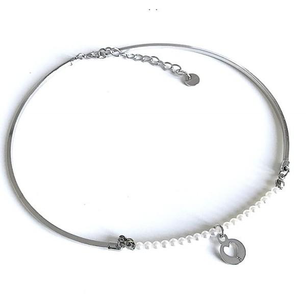 Collana rigida perle piccole