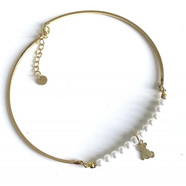 Collana rigida perle grandi