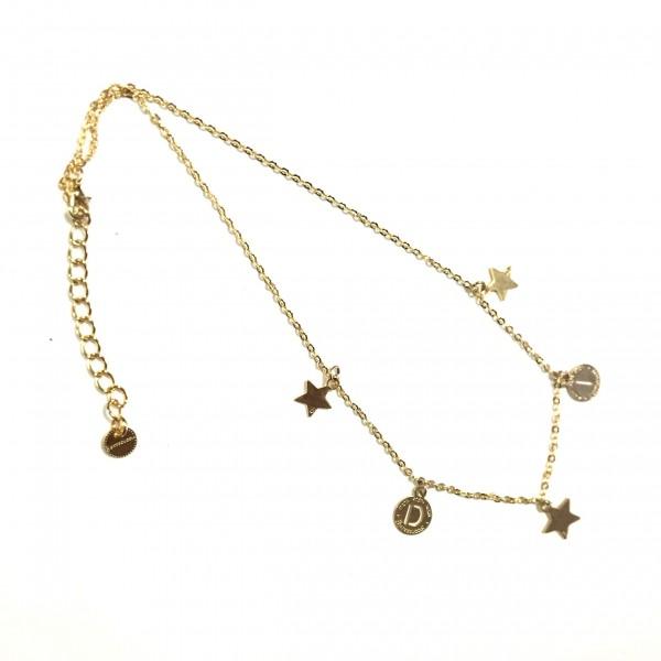 Collana catena 42 cm con lettere e 3 stelle