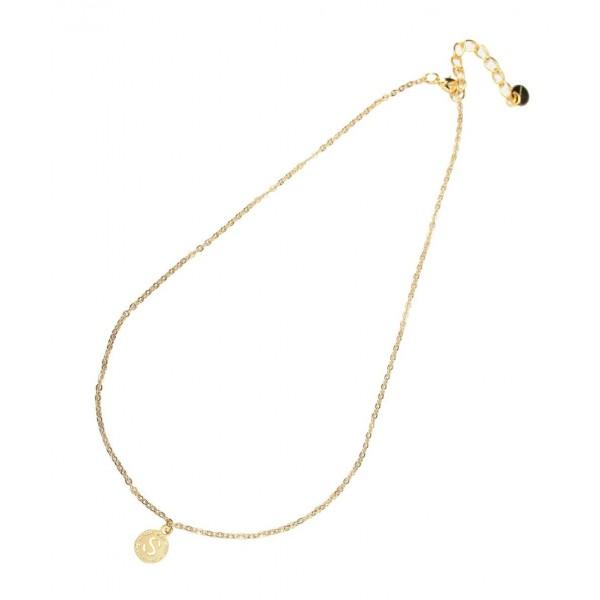 Collana catena 32 cm con charm lettera