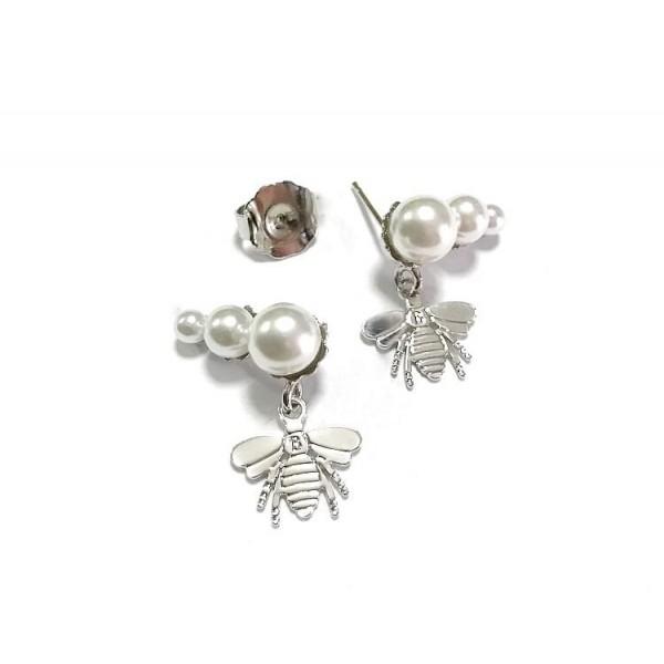 Coppia tris di perle 2 charms