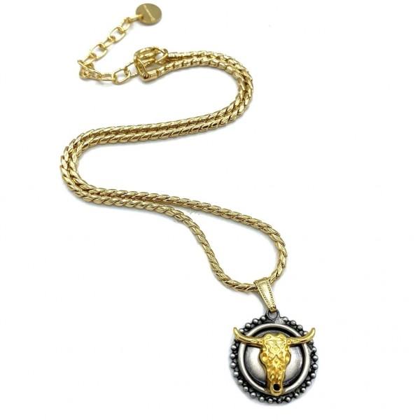 Medium SkullBull Necklace