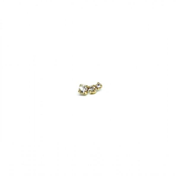 Orecchino singolo Virgola micro (dx o sx)