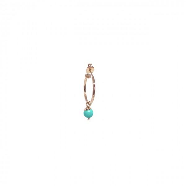 Cerchio singolo 2 cm Perla Corallo/Turchese
