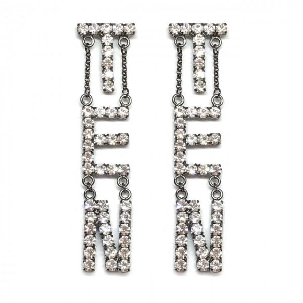 Coppia Word Earrings Verticali (ESCLUSIVA ONLINE)