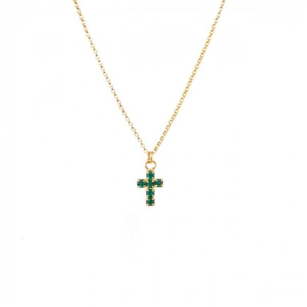 Collana catena sottilissima 35 cm più allungo Croce piccola