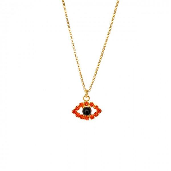 Collana catena sottilissima 35 cm più allungo Occhio