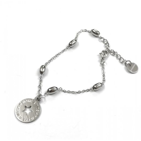 Bracciale catena rosario Chicchi di Riso 1 moneta
