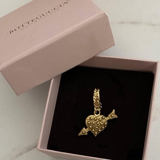 SINGOLO Mini Groumette Cupid's Heart Hoop 1 cm