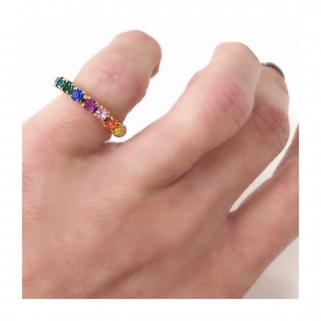 Anello veretta Doppia regolabile da Mignolo New Multicolor semplice  (ESCLUSIVA ONLINE)