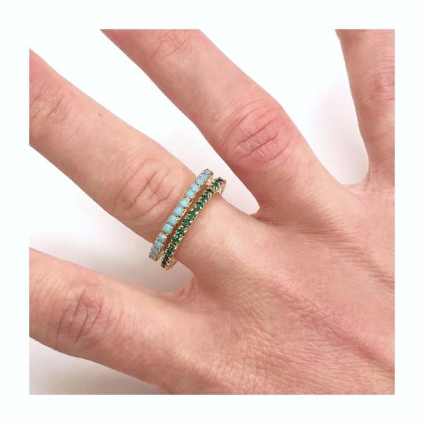 Due anelli verette Sottili regolabili semplici