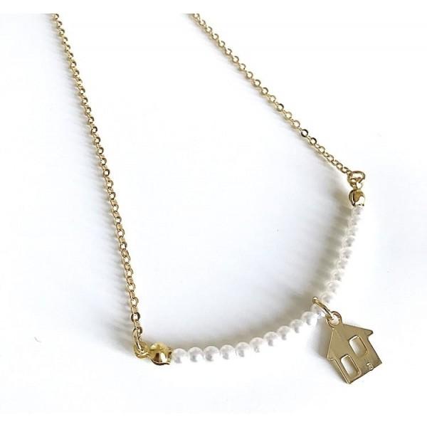 Collana catena perle piccole