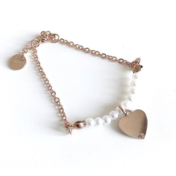 Bracciale catena perle piccole