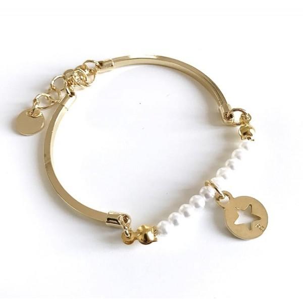 Bracciale rigido perle piccole
