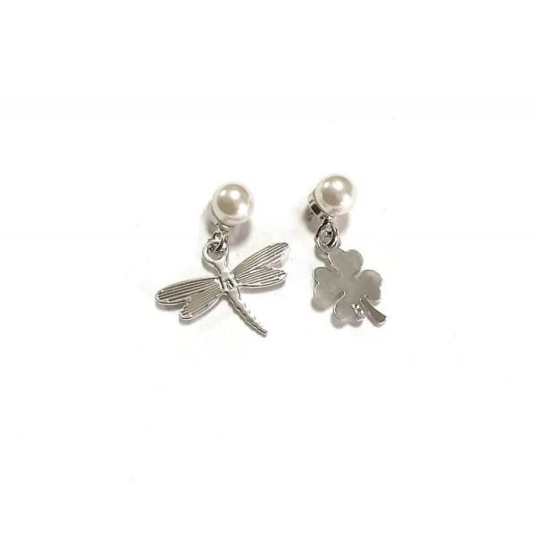 Coppia pendenti perle+charms