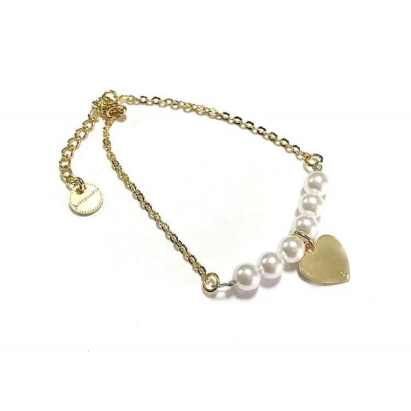 Bracciale catena perle grandi