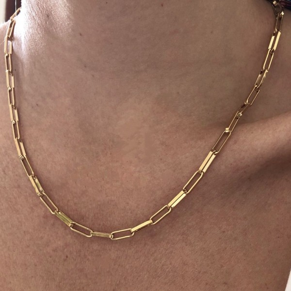 Little Square chain Necklace