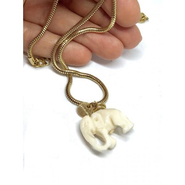 Collana Catena Snake 32 o 42 cm più allungo Elefante